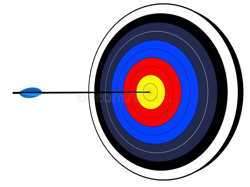 Target. 3d rendered illustration of a target vector illustration