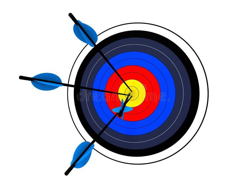 Target. 3d rendered illustration of a target stock illustration
