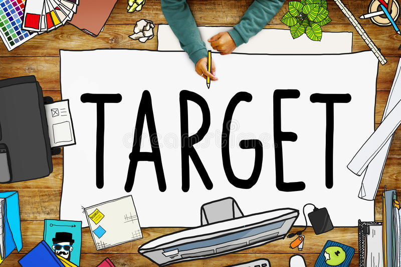 Target Aim Goal Marketing Mission Aspiration Concept royalty free illustration