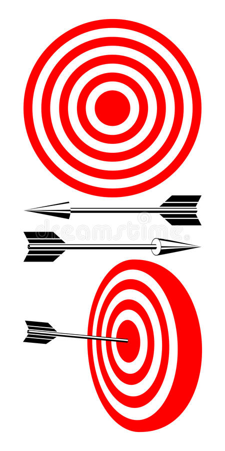 Free Target And Arrows. Royalty Free Stock Photography - 23323757