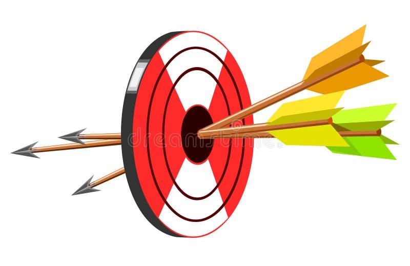 Download Target with arrow stock vector. Illustration of winner - 19868838