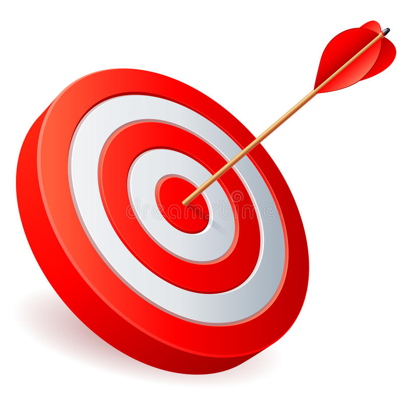 Target with arrow. stock illustration