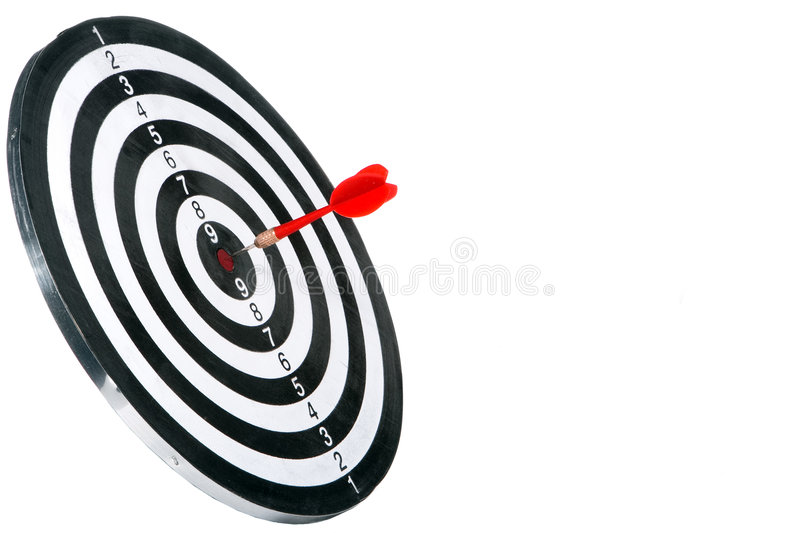 Target with arrow stock photo