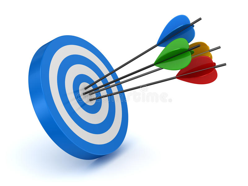 Target and arrow royalty free illustration