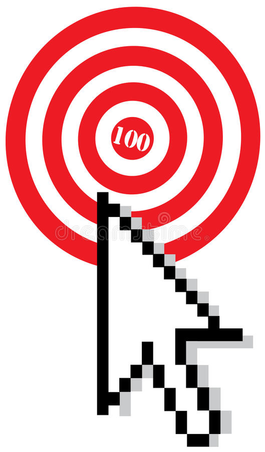 Target with arrow cursor royalty free stock photo