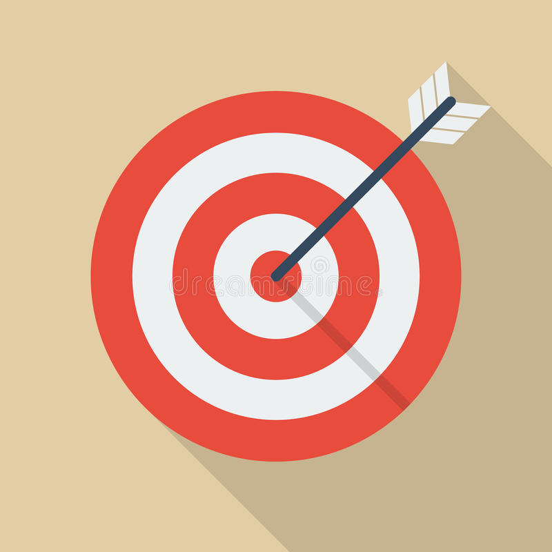 Target and arrow stock illustration