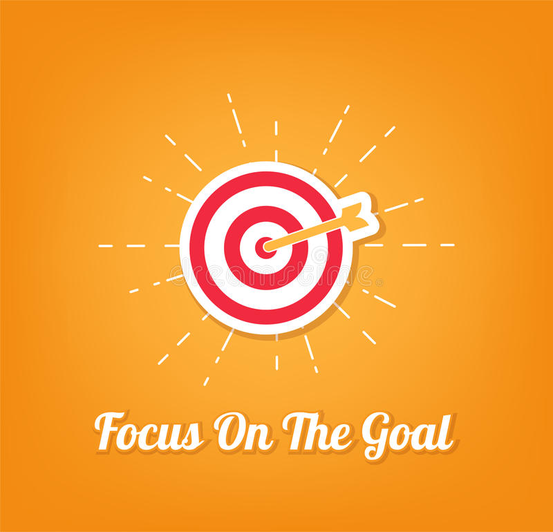 Target arrow icon. Focus on the goal. Vector royalty free illustration