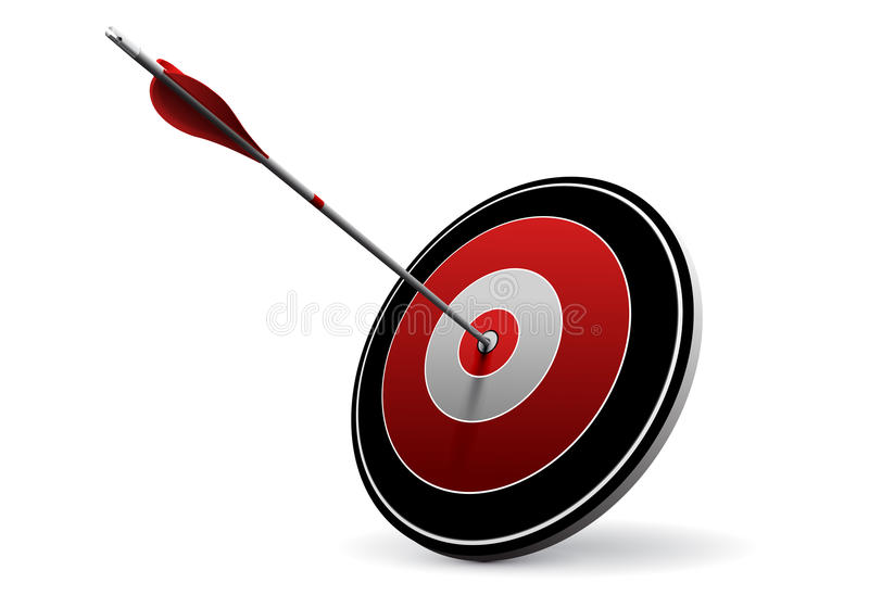 Target and Arrow, Vector Business Icon stock illustration