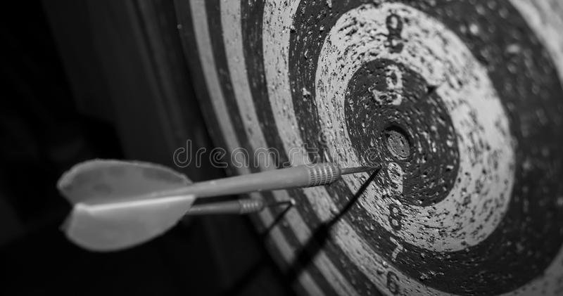 Target with arrows. Target arrows background sport black and white stock images