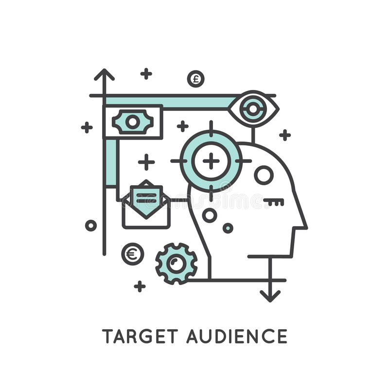 Target Audience Concept royalty free illustration