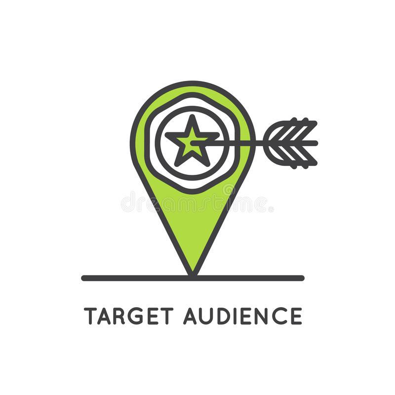 Target Audience Concept stock illustration