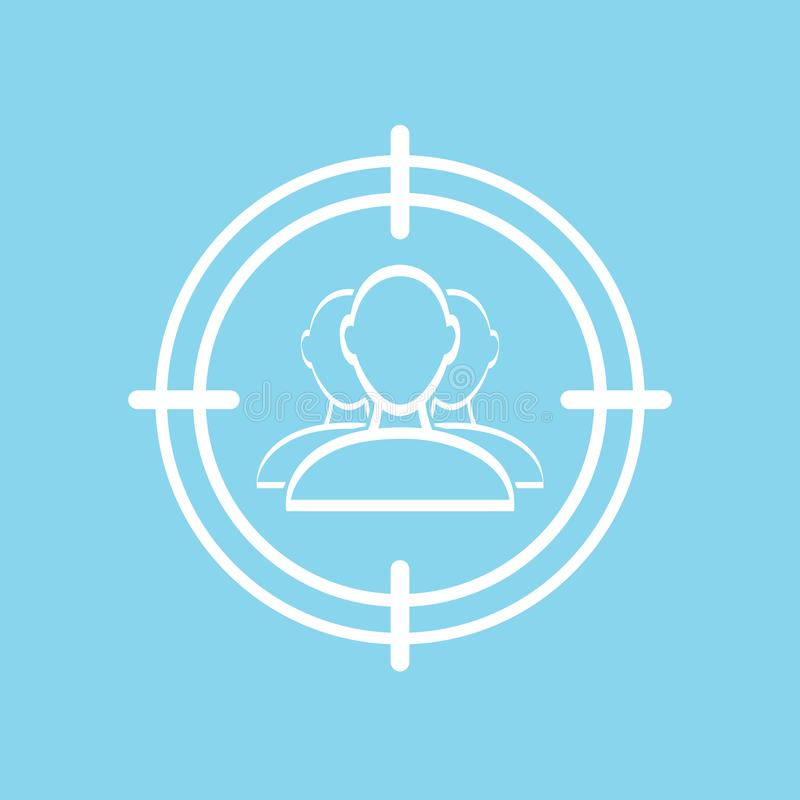 target audience icon vector illustration