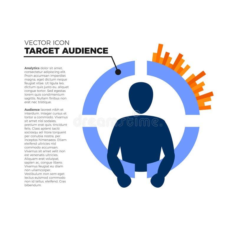 Target audience icon stock illustration