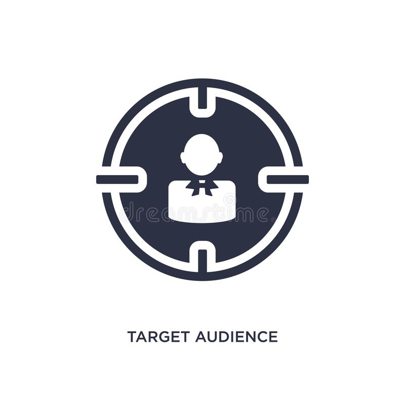 target audience icon on white background. Simple element illustration from human resources concept vector illustration