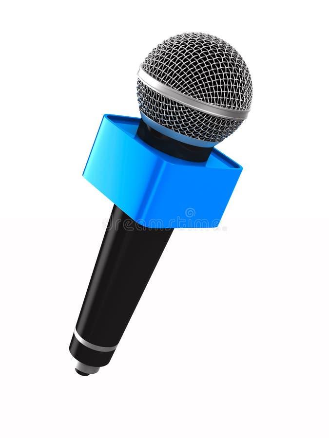 target1703_0_ biel tło mikrofon istotny głośny Odosobniona 3d ilustracja ilustracja wektor