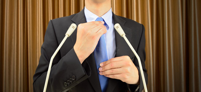 target1244_0_ biznesmen jego krawat zdjęcia stock