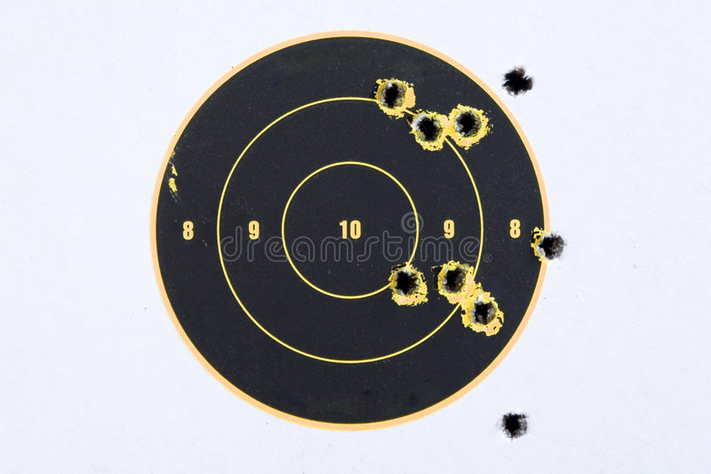 Download Target With Bullet Holes stock image. Image of bullseye - 2980285