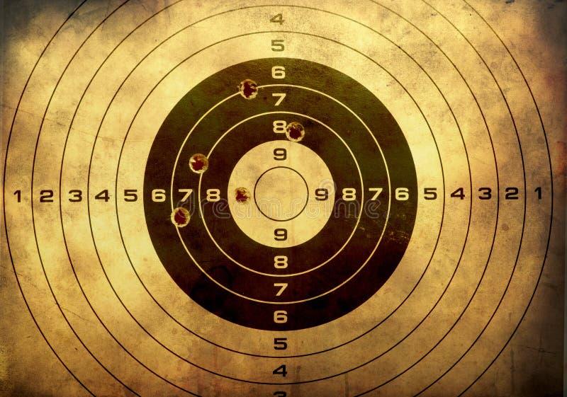 Download Target With Bullet Holes Over Grunge Background Stock Illustration - Illustration of grunge, shoot: 24730710