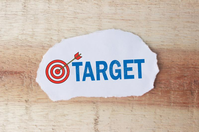 Target, Business Motivational Words Quotes Concept stock photos