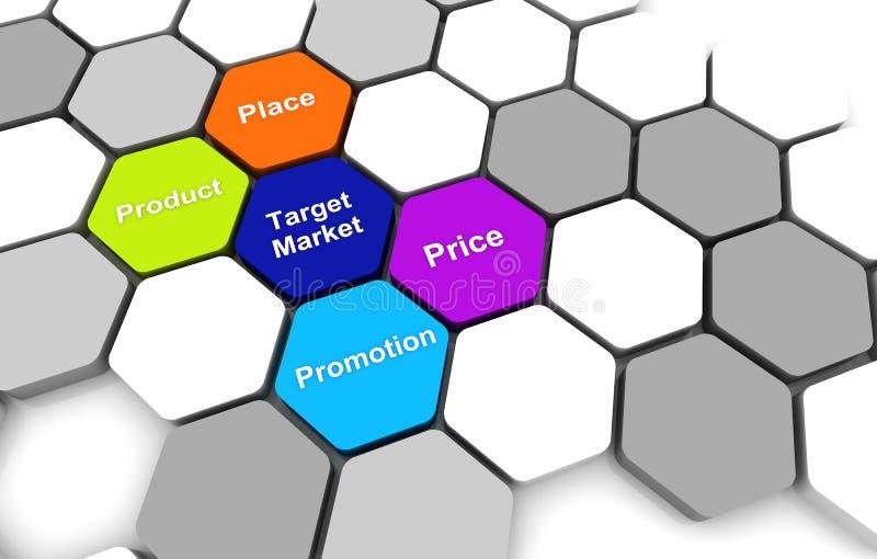 Download Target Business PlanDiagram Connection Beehive Background Stock Illustration - Image: 34651156