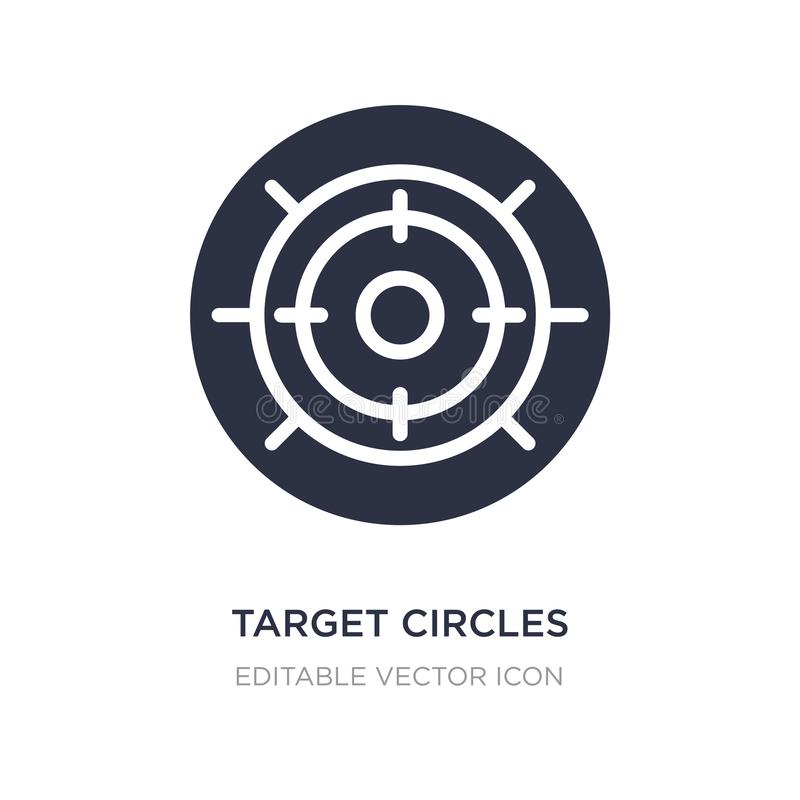 Target circles icon on white background. Simple element illustration from Tools and utensils concept. Target circles icon symbol design royalty free illustration