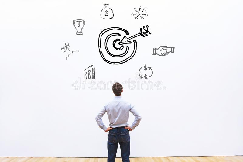 Target for company or achievement concept. Goal stock photos