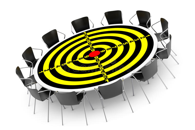 Target Conference Round Table And Office Chairs Stock Photo Image - Target conference table