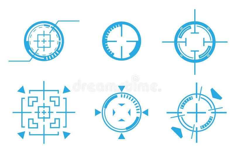 Target crosshair. Differnce type of target crosshair royalty free illustration