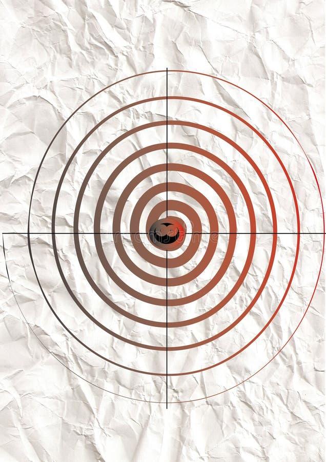 Download Target on crushed paper. stock illustration. Image of paper - 13301742