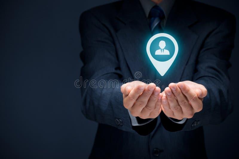 Target customer royalty free stock photography