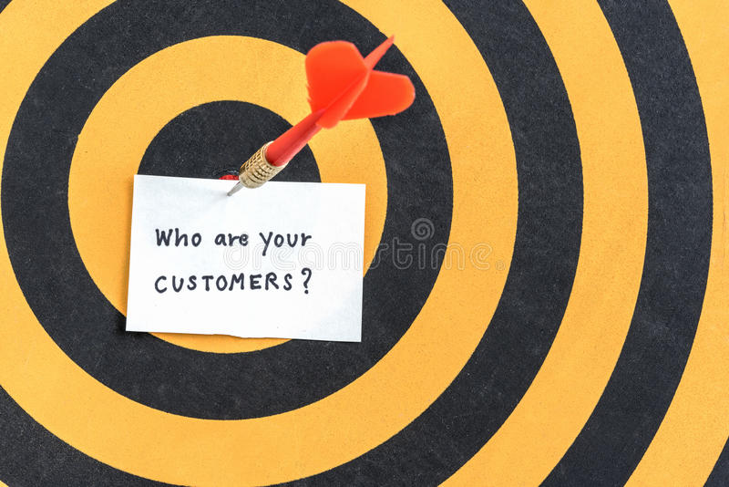 Target customers marketing concept stock photography
