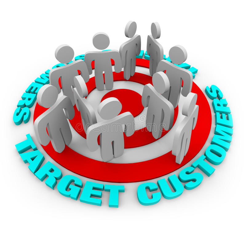 Target Customers - Red Target royalty free illustration