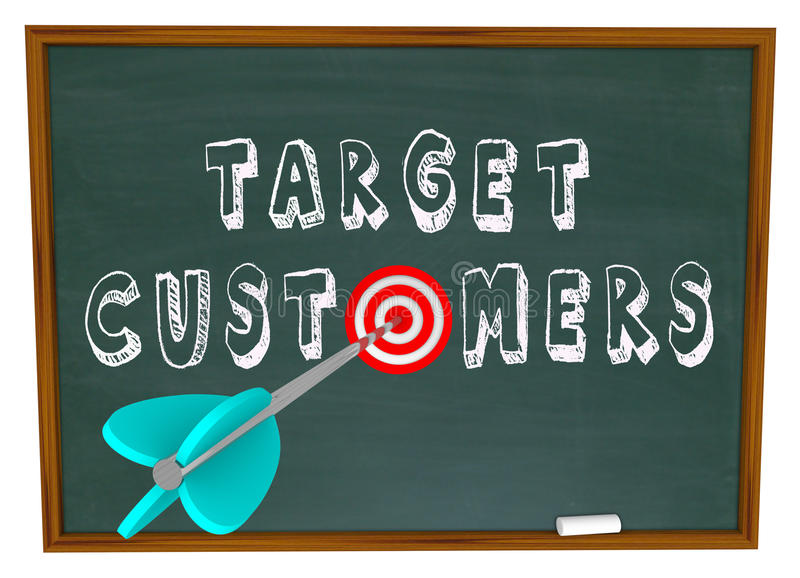 Target Customers - Words on Chalkboard vector illustration