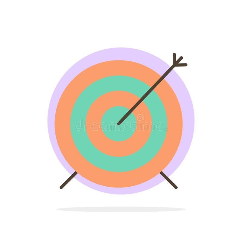 Target, Dart, Goal, Focus Abstract Circle Background Flat color Icon stock illustration
