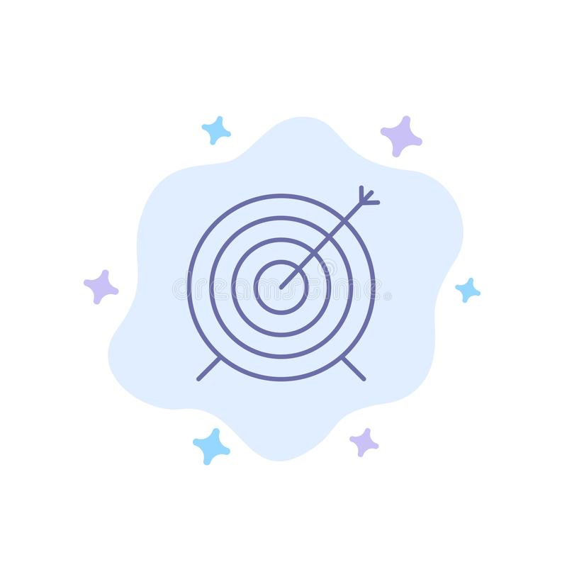 Target, Dart, Goal, Focus Blue Icon on Abstract Cloud Background vector illustration