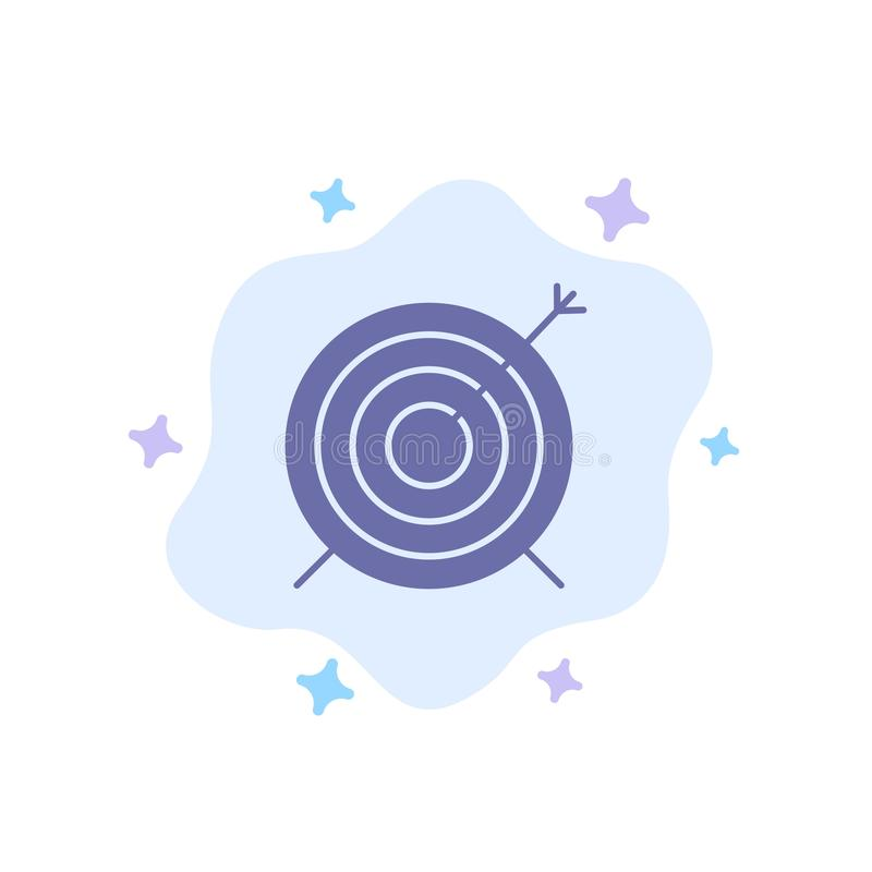 Target, Dart, Goal, Focus Blue Icon on Abstract Cloud Background royalty free illustration