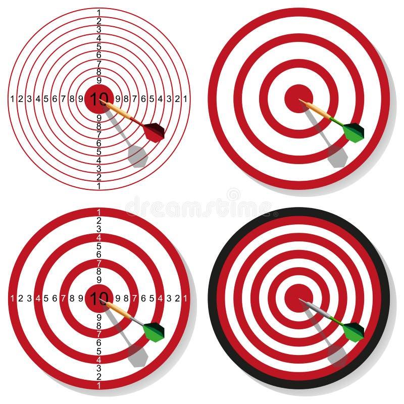 Target and dart royalty free illustration