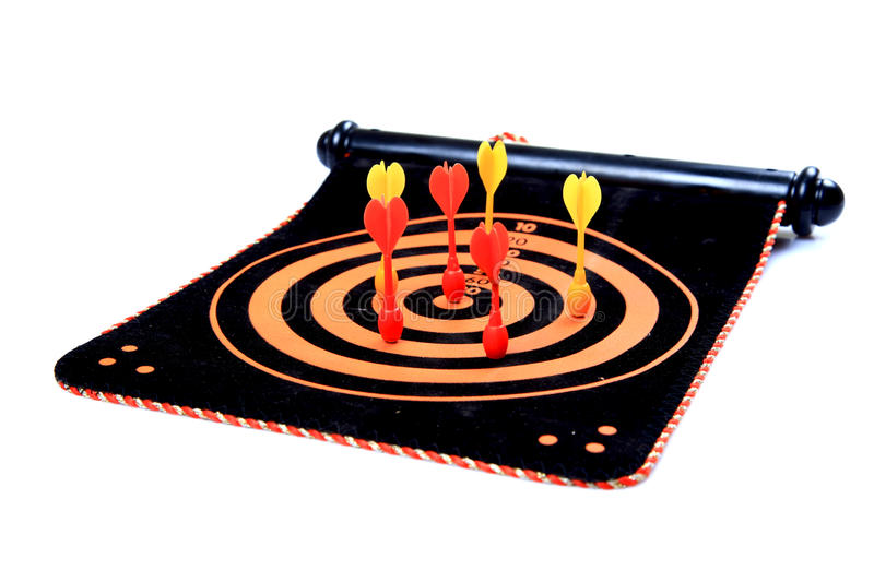 Target And Darts Royalty Free Stock Image