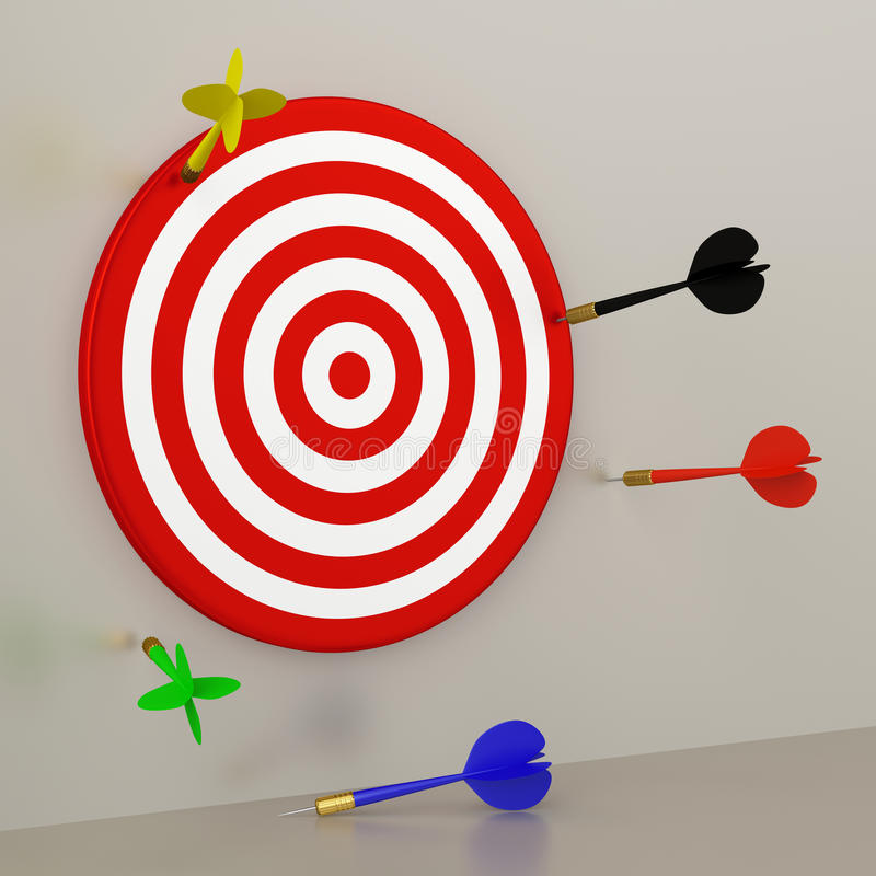 Target and Darts royalty free illustration