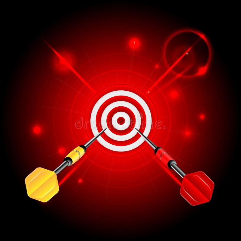 Target and darts stock illustration