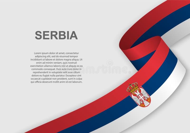 TARGET516_1_ Flaga Szablon dla dnia niepodległości royalty ilustracja