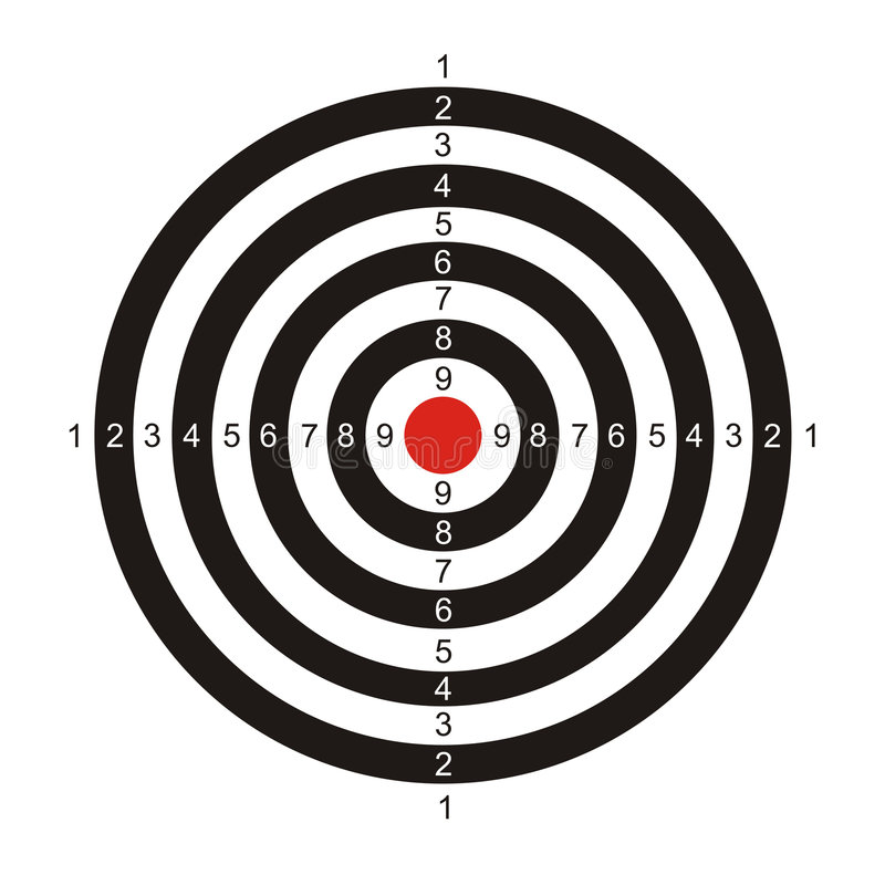 Target for game in a darts royalty free illustration