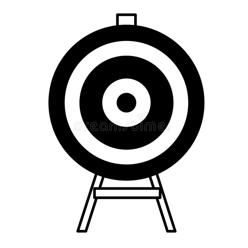 Target goal business. Vector illustration graphic design stock illustration