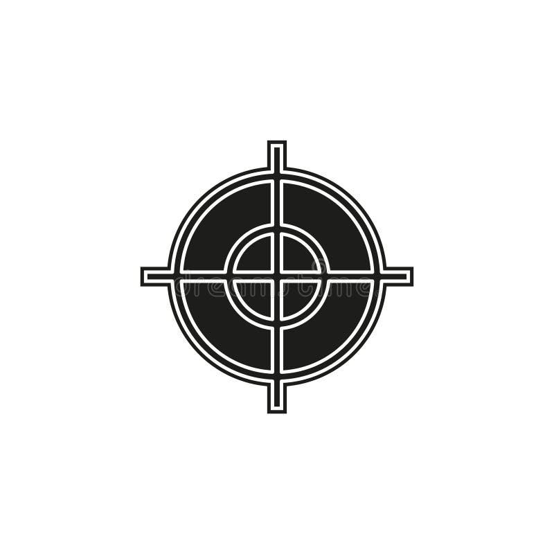 target goal icon, target focus arrow, marketing aim stock illustration
