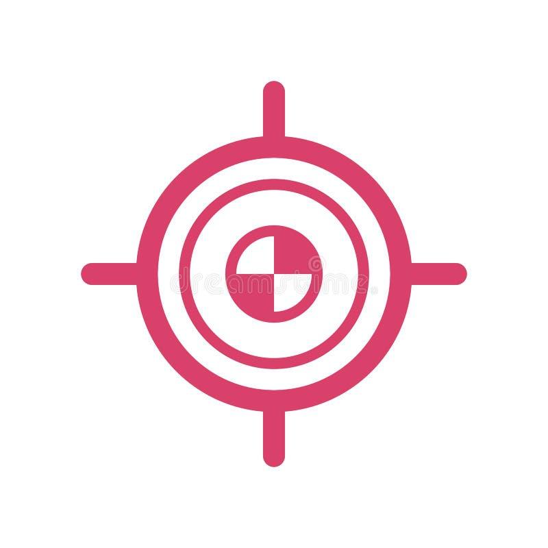 Target goal icon - target focus arrow - marketing aim - flat vector illustration isolated on white background. royalty free illustration