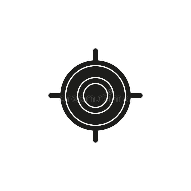 target goal icon, target focus arrow, marketing aim, sniper stock illustration