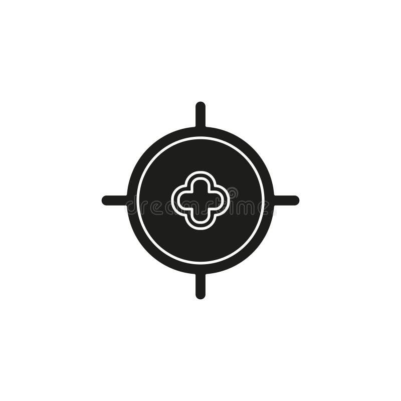 target goal icon, target focus arrow, marketing aim, sniper royalty free illustration