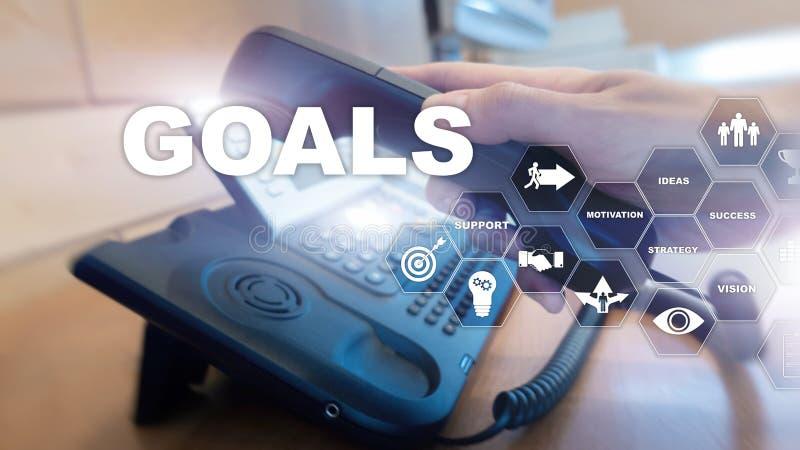 Target Goals Expectations Achievement Graphic Concept. Business development to success and growing growth. Target Goals Expectations Achievement Graphic Concept stock photo