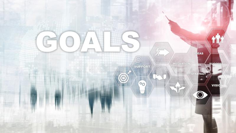 Target Goals Expectations Achievement Graphic Concept. Business development to success and growing growth. Target Goals Expectations Achievement Graphic Concept royalty free stock photos