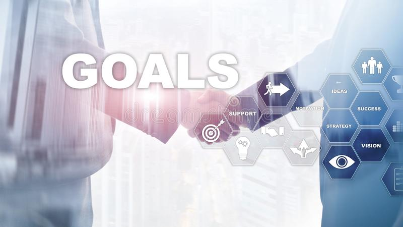 Target Goals Expectations Achievement Graphic Concept. Business development to success and growing growth. Target Goals Expectations Achievement Graphic Concept royalty free stock photo